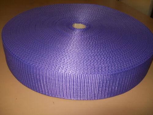 """1/"""" POLYPROPOLENE WEBBING PURPLE 50mtr ROLL 25mm"""