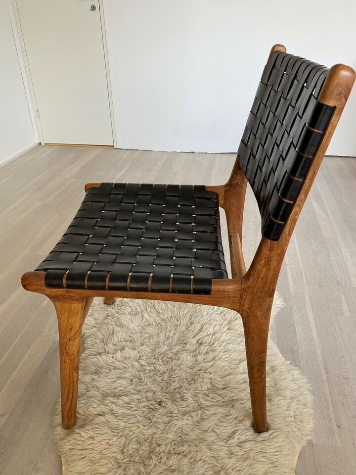 Spisebordsstol, Teak med sort – dba.dk – Køb og Salg af Nyt