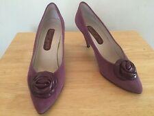 ROLAND CARTIER Ladies Purple Suede Soraya Heeled Shoes @ Size EU 37.5 UK 5.5