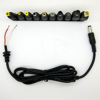 Laptop Notebook Input DC Universal Plug Set Jack Tips without AC Adapter Charger