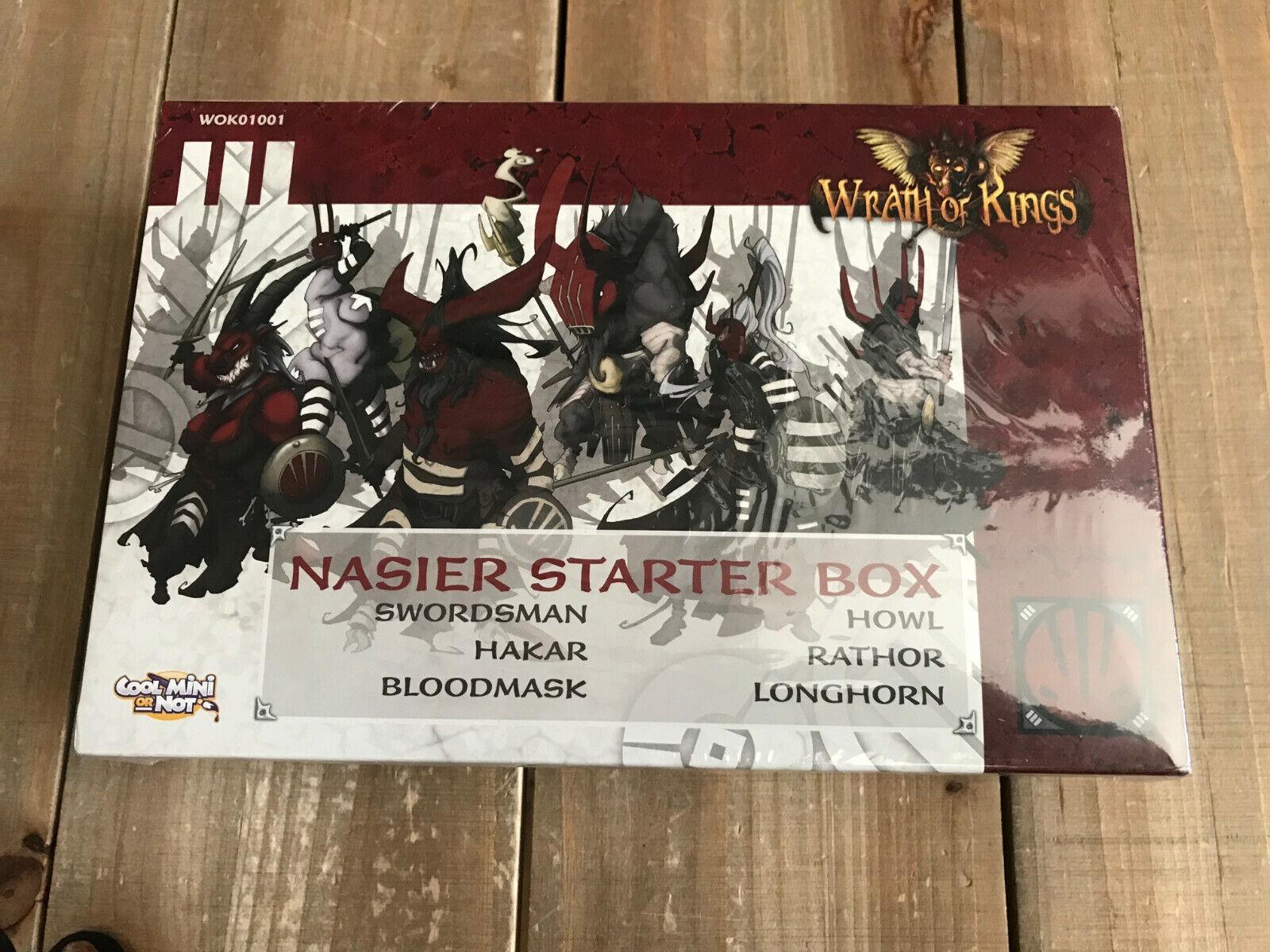 Wrath of Kings - - - NASIER STARTER BOX - CMON WOK01001 - Sealed 85e
