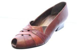 Mattil Pumps braun Leder Schuhweite G Gr. 38,5 (UK 5,5)