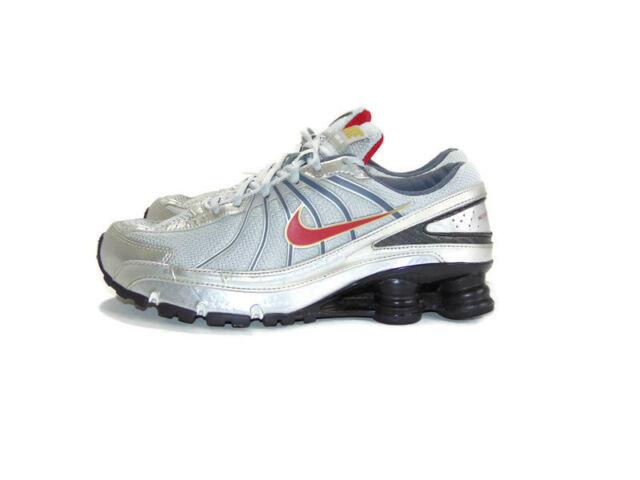 Nike Men's Size 7.5 US D Gray Silver Red Shox Turbo VII 7 Running Athletic  Shoes