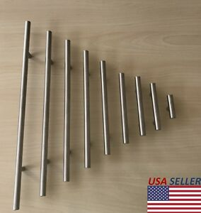 Details About Stainless Steel T Bar Modern Kitchen Cabinet Door Handles Drawer Pulls Knobs Lot