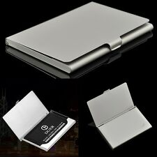 Office Business Name Card Metal Box Credit Id Stainless Steel Case Holder Gift