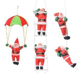Babbo-NATALE-ALBERO-DI-NATALE-INTERNI-ESTERNI-Ornamento-Decorazione-Natale-bambini-doni