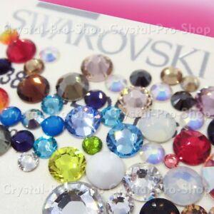 Image is loading ss12-Genuine-Swarovski-NO-Hotfix-Crystal-FLATBACK- Rhinestone- 752142a393ed