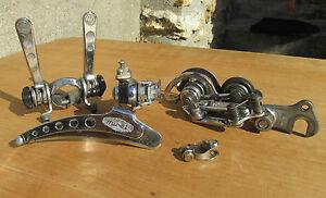 HURET-SVELTO-ENSEMBLE-DERAILLEUR-VELO-COURSE-ANCIEN-VINTAGE-BICYCLE-SET