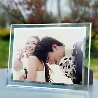 """""""Crystal Baby"""" Wedding Photo Frame Glass Simple Home Decor Lovers Picture Frame"""