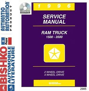 1996 dodge ram truck shop service repair manual cd engine drivetrain rh ebay com 1996 dodge ram 2500 owners manual 1996 dodge ram 2500 owners manual