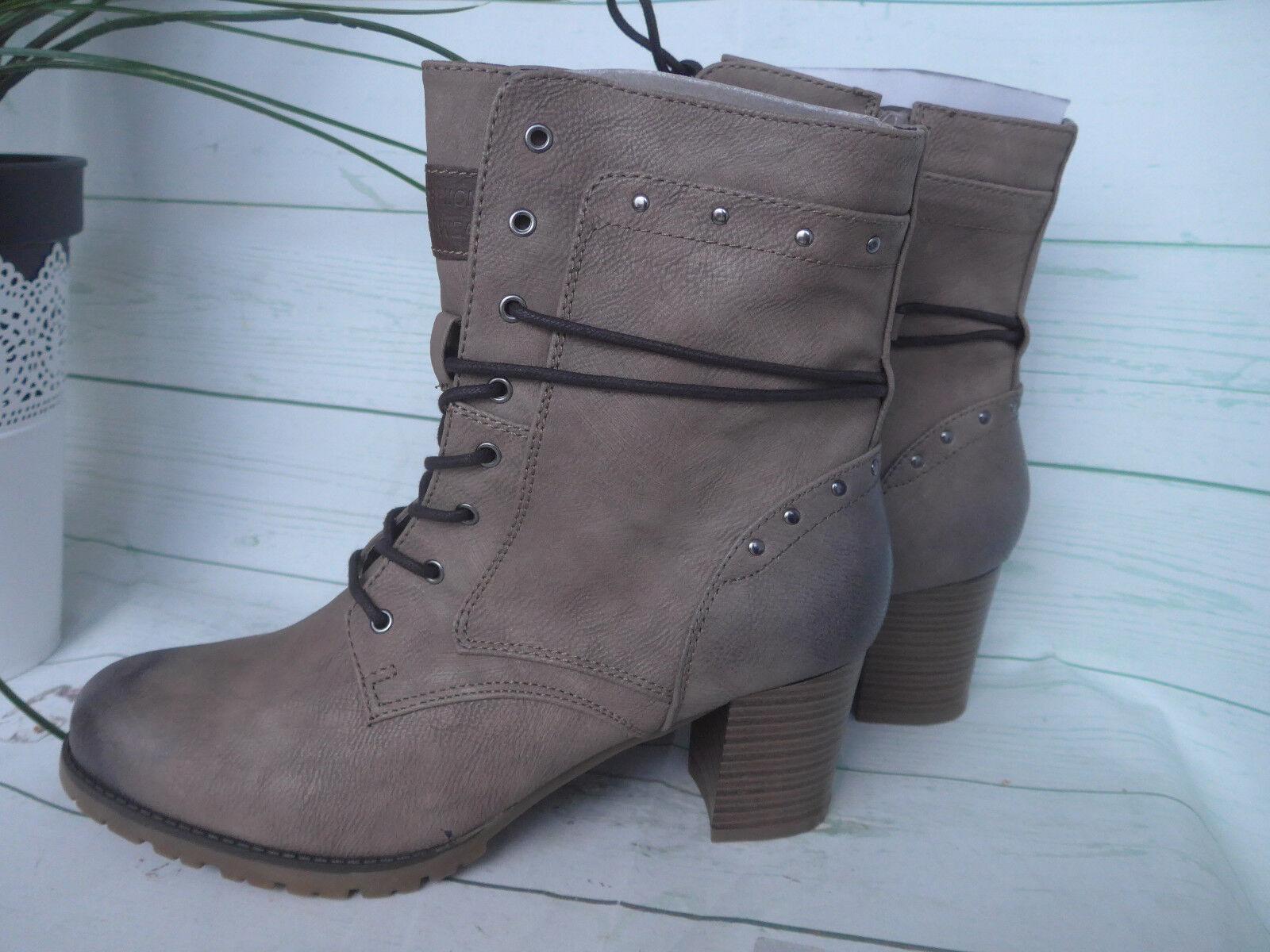 Arizona Stiefelette Kurz Stiefel  Boots Gr. 42 Taupe Used NEU (386)