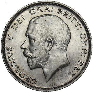 1913 HALFCROWN - GEORGE V BRITISH SILVER COIN - V NICE