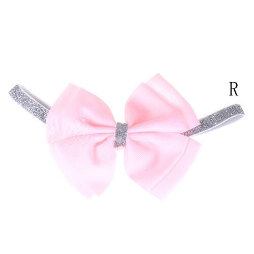 New Cute Baby Girls Toddler Newborn Big Headband Headwear Hair Bow AccessoriesS/&