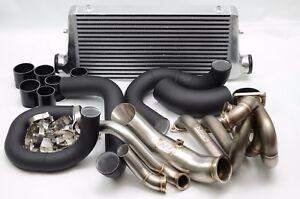 1320 PERFORMANCE B series T3 Top mount turbo manifold intercooler kit DP WG pipe