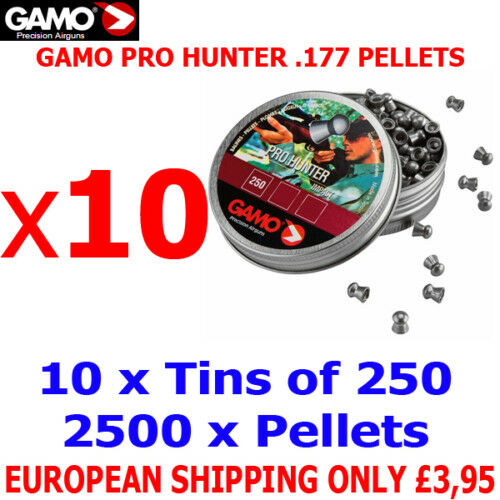 GAMO PRO HUNTER .177 Airgun Pellets 10(tins)x250pcs