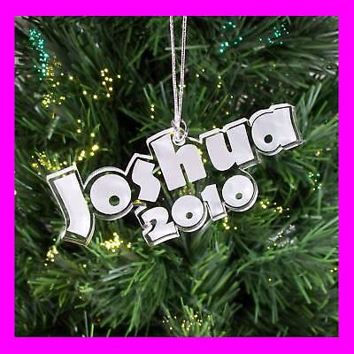 Custom Christmas Ornaments.Personalized Custom Christmas Ornament Name Year Fun Gift Idea Ebay