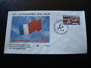 FRANCE-enveloppe-21-12-1990-27e-congres-du-PCF-cy7-french-z