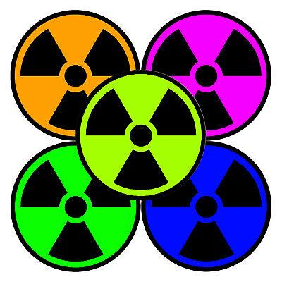 Window Bumper Sticker BS506010 Radiation Nuclear Symbol Set of 4