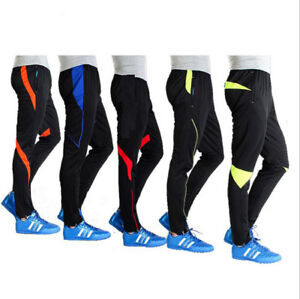 7131 New Kids Skinny Soccer Pant Boys Training Sweat Sport Gym Athletic Trousers