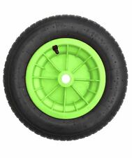"""14"""" Lime Verde PNEUMATICO CARRIOLA RUOTE CAMION Trolley 3.50/4.00-8 1"""" Foro SV"""