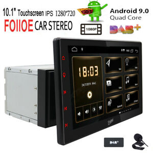 10 1 zoll quad core android 9 0 doppel 2 din autoradio bluetooth gps navi dab ebay. Black Bedroom Furniture Sets. Home Design Ideas