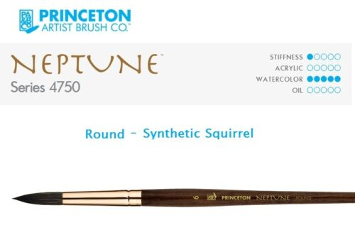 You Choose Princeton Art /& Brush Co Neptune 4750 Round Synthetic Squirrel