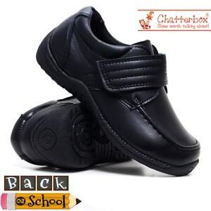 Boys Faux Leather School Shoes Kids