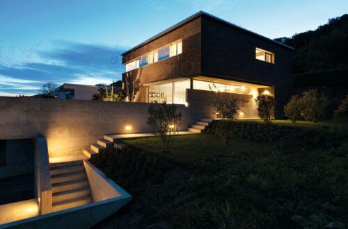 NEW Outdoor Wall Light Grey Down Sconce Garden Surface Mounted Exterior