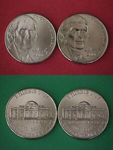 2003 P /& 2003 D Bu Jefferson Nickel from OBW Roll Flat Rate Shipping