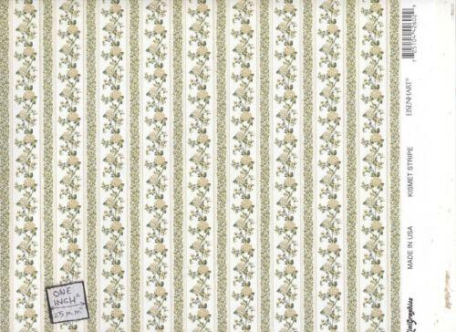 206D234 MiniGraphics wallpaper dollhouse miniature 1//12 scale Kismet Stripe.