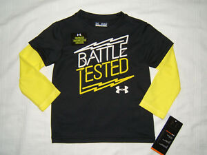 Under-Armour-Long-Sleeve-T-Shirt-Top-Boy-18M-Battle-Tested-Glow-in-Dark-NWT