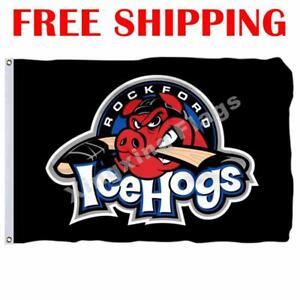 Rockford-IceHogs-Logo-Flag-AHL-American-Hockey-League-2018-Banner-3X5-ft