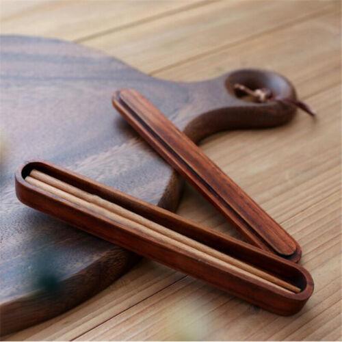 Wooden Chopsticks Storage Box Gift Set Handmade Portable Picnic ONE