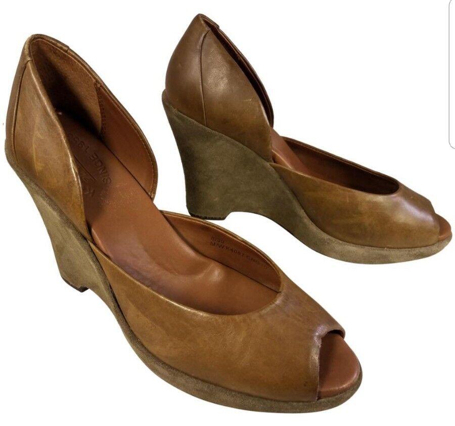Kork-Ease Mujer Zapatos Cuñas Plataforma Cuero Gamuza Marrón khakki khakki khakki 8 39  hasta 42% de descuento