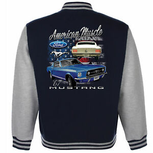 ford mustang baseball varsity jacke american classic pony v8 muscle