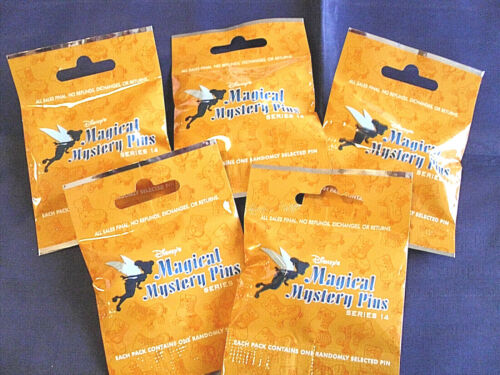 SERIES #14 NEW Mystery Pack Pins Disney MAGICAL MYSTERY PINS 5 PACKS