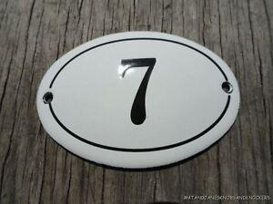 Piccolo Stile Antico Smalto porta numero 7 Segno Targa Numero Civico segno Furniture