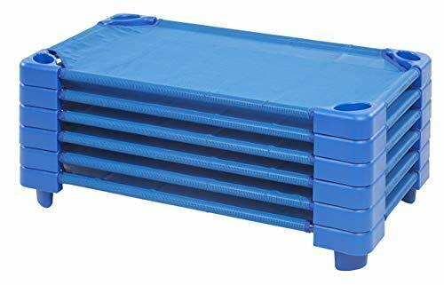 Stackable Daycare & Preschool Rest Cot Set for Kids & Toddlers Ages 2 - 4 (6ct)