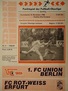 Union Berlin Programm 1988//89 Stahl Brandenburg
