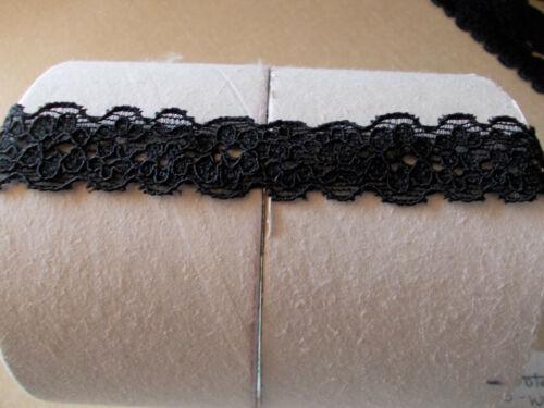 """Negro Encaje Floral en forma de Estiramiento Suave 1//2/""""//1.25cms Ancho 2.5m//5m//10m"""