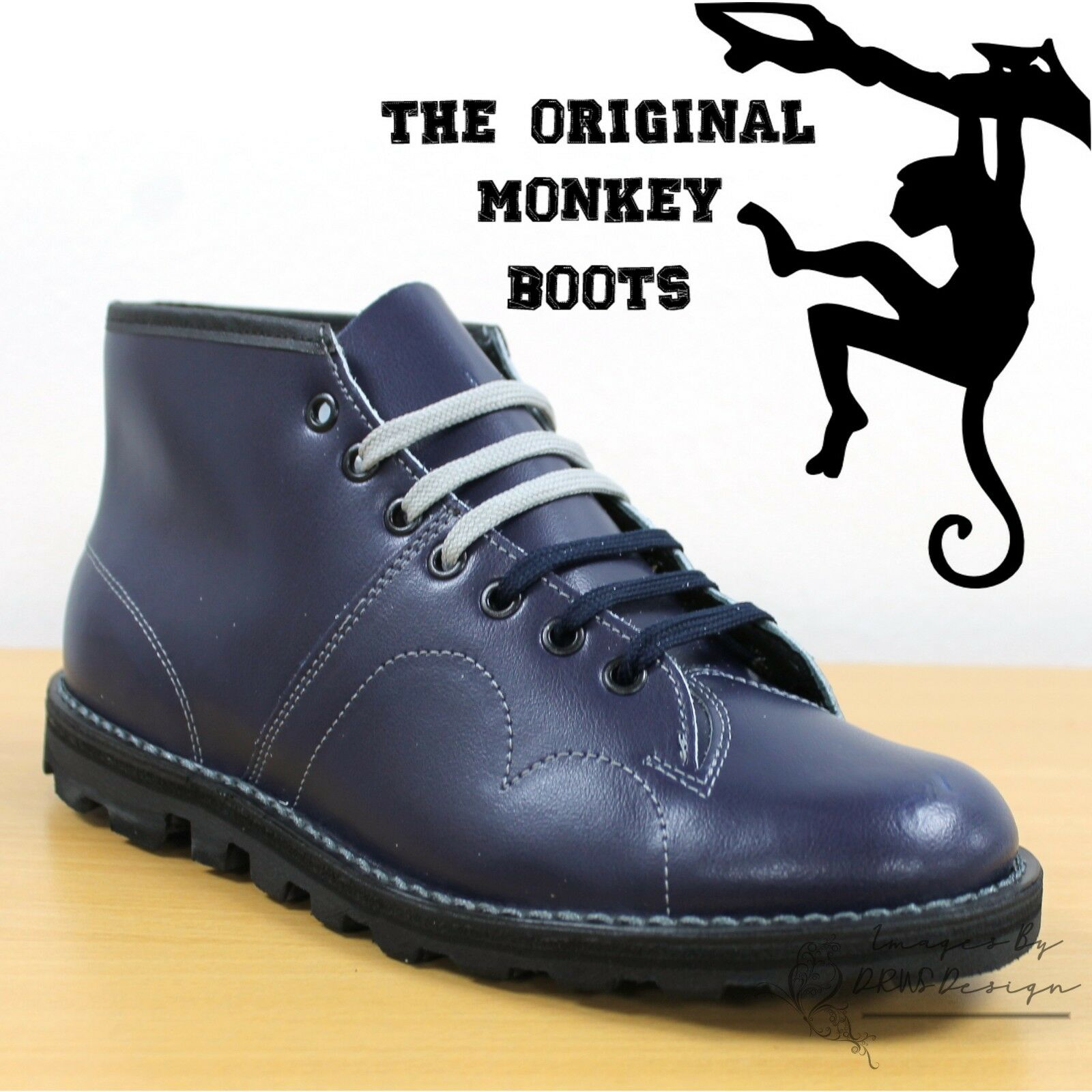 Grafters The Retro Original Monkey botas Hombre's Mujer's & Kids Retro The 60's Azul Zapatos d56a69