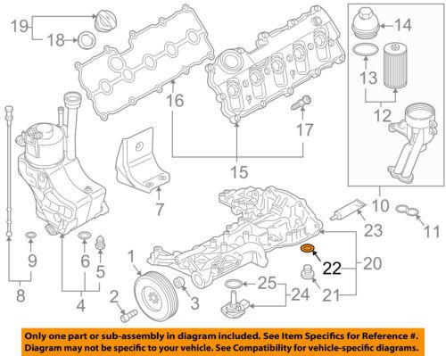 AUDI OEM 10-12 R8 5.2L-V10 Engine-Drain Plug Seal N0138493
