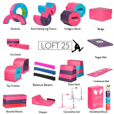 Loft 25/® Gymnastics Training Madelyn Pink Handstand Cartwheel Foam Block