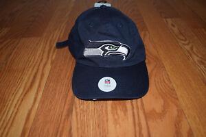 e39dde7c1 NWT Mens Team Headwear SEATTLE SEAHAWKS NFL Navy Cotton Hat Cap One ...