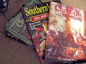 2-Annuals-Christmas-with-Southern-Living-Lot-7-Books-90-97-2000-2001-Vol-2