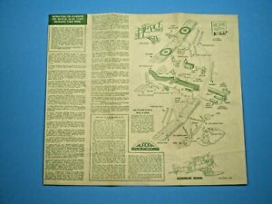 Aurora-1956-BRITISH-SE-5A-SCOUT-Original-Model-Instruction-sheet-L-K