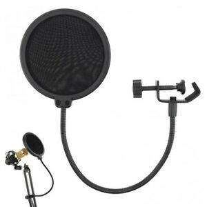 Recording-Studio-Microphone-Pop-Filter-Mic-Wind-Screen-Mask-Shield-Double-Layer