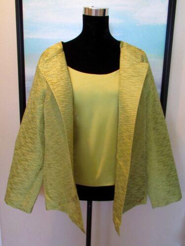 Eileen Fisher Chartreuse Green Silk Swing Top & Ta