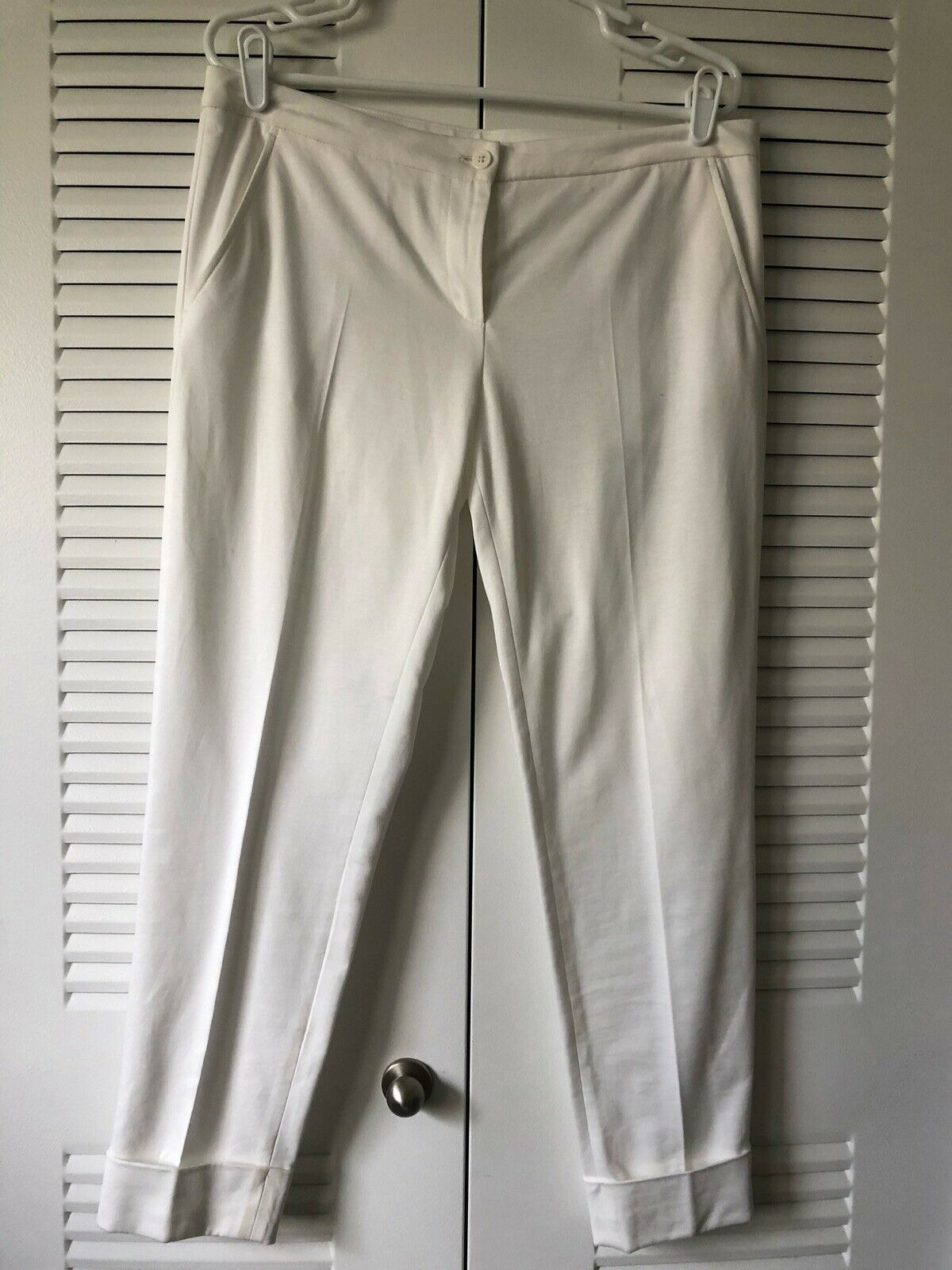Moncler 100% Authentic White Cuffed Pants NWT