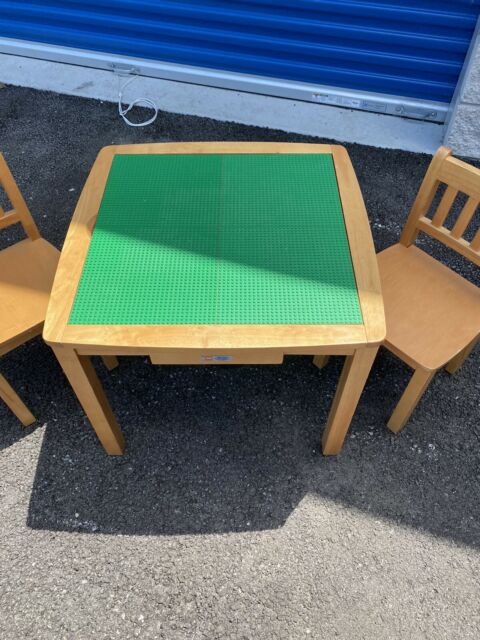Imaginarium Lego Table And 2 Chair Set, Wooden Lego Table With Chairs